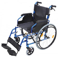 Deluxe Lightweight Self Propelled Aluminium Blue Wheelchair