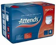 Attends Pull Ons 8 - Medium (80-110cm/31-43in) 16PK