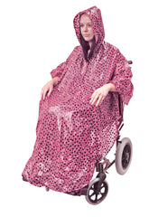 Wheelchair Poncho Pink Polka Dot