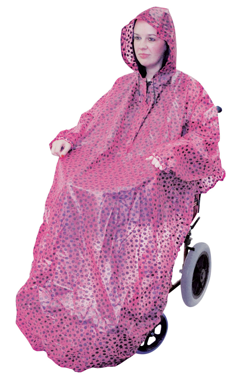 Wheelchair Mac with Sleeves Pink Polka Dot