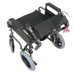 Deluxe Attendant Propelled Steel Wheelchair
