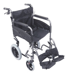 Compact Transport Aluminium Wheelchair Hammered Effect