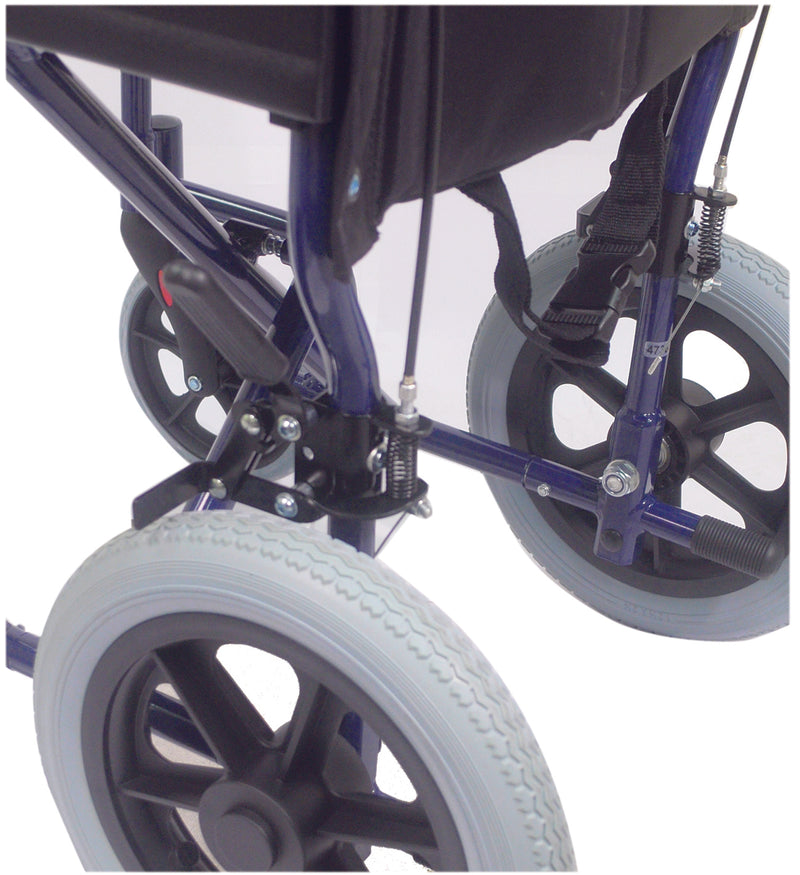 Aluminium Compact Transport Blue Wheelchair