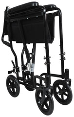 Steel Compact Transport Wheelchair
