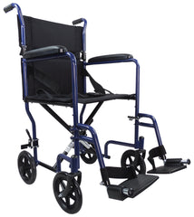 Steel Compact Transport  Blue Wheelchair