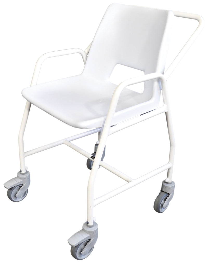 Hythe Mobile Shower Chair with Castors- Adjustable Height