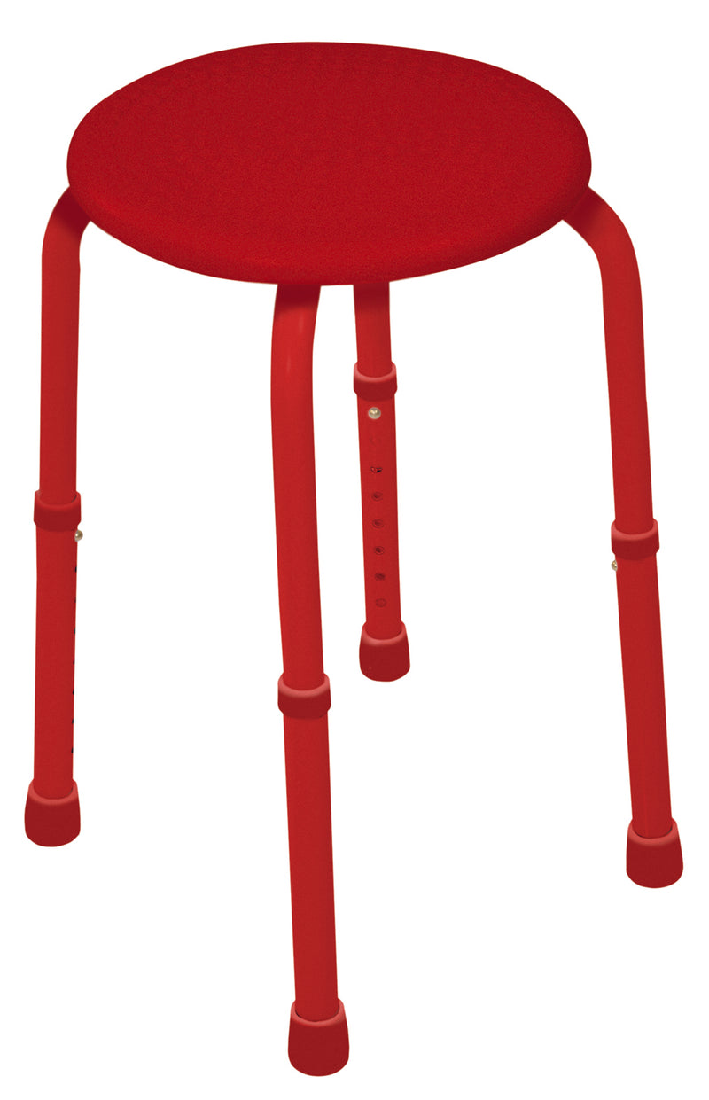 Multi-Purpose Adjustable Stool Red