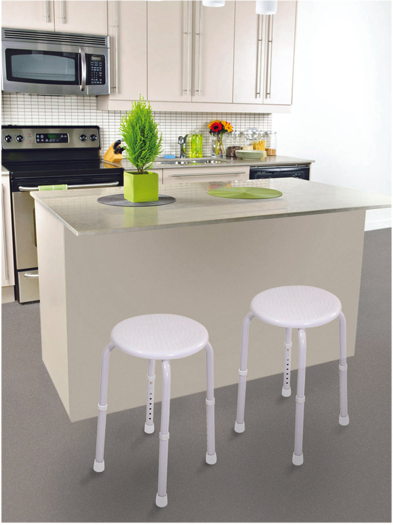 Multi-Purpose Adjustable Stool White