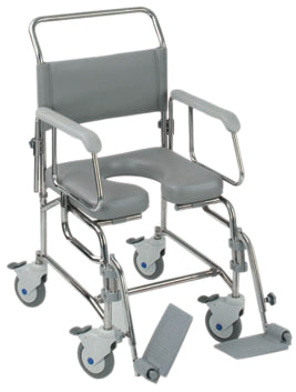 Transaqua (TA6) Attendant Propelled Shower Commode Chair 21'' Seat