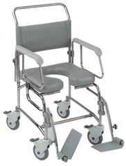 Transaqua (TA6) Attendant Propelled Shower Commode Chair 18'' Seat