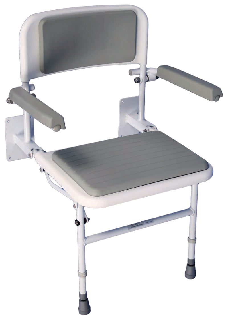 Solo Deluxe Shower Seat- Padded Back and Seat