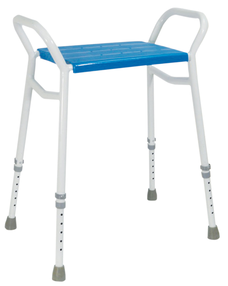 Strood Height Adjustable Shower Stool Aluminium