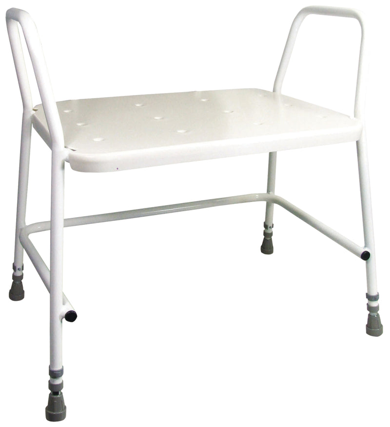 Portland Heavy Duty Height Adjustable Shower Stool-Padded Support