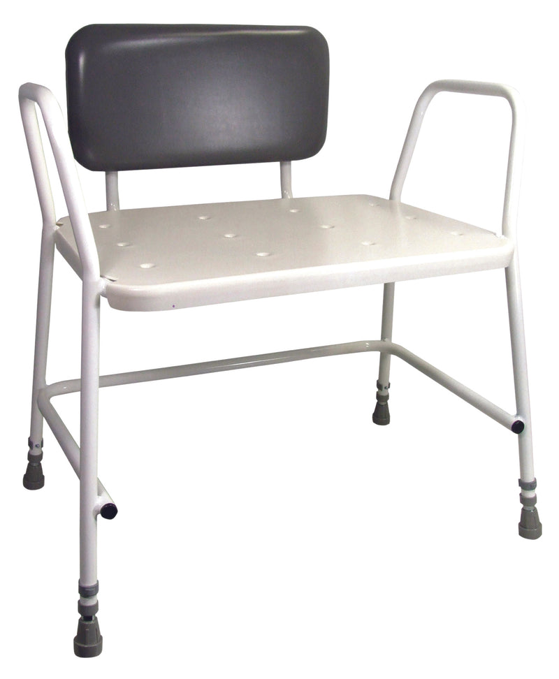 Portland Heavy Duty Height Adjustable Shower Stool- Standard