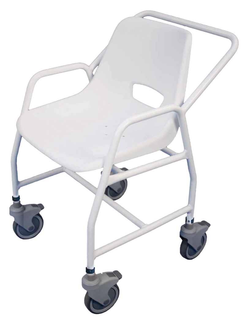 Hythe Mobile Shower Chair with Castors (adjustable height)
