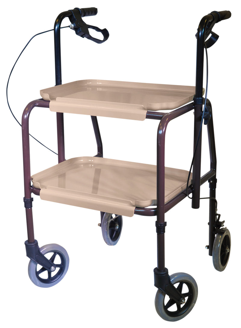 Height Adjustable Kitchen Strolley Trolley with Brakes