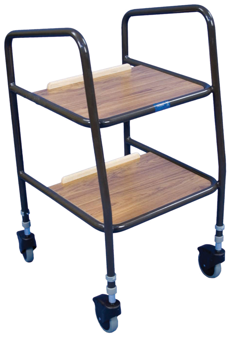 Meopham Height Adjustable Trolley with Wooden Trays