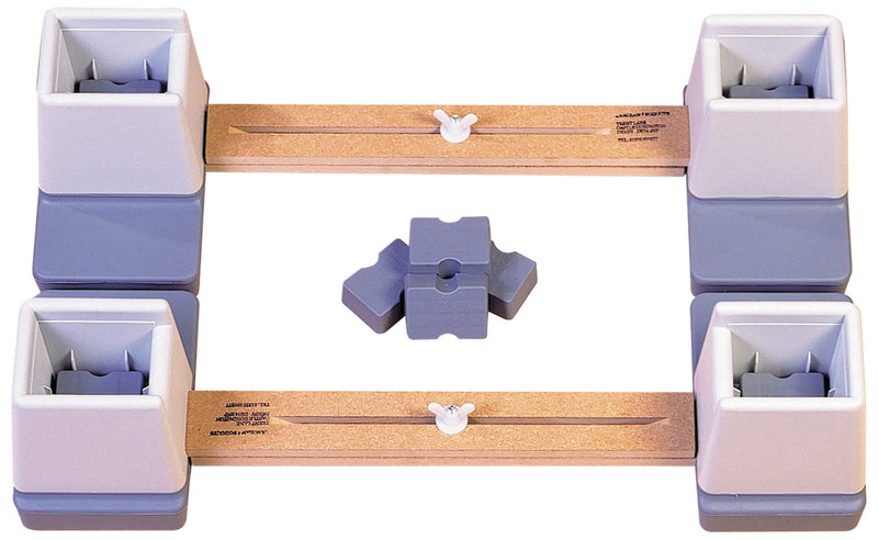 Adjustable Height and Width Linked Bed Raiser 24-35''