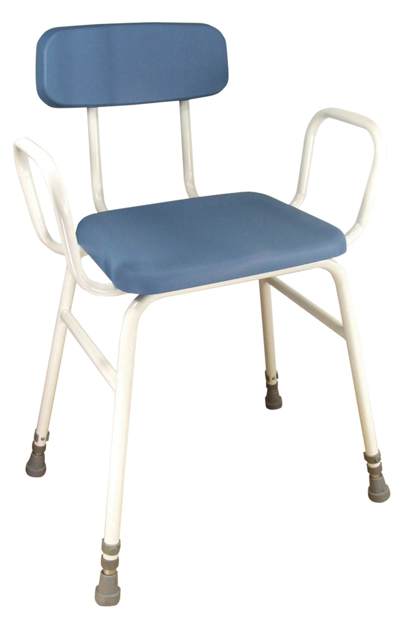Astral Perching Stool With Arms and Padded Back