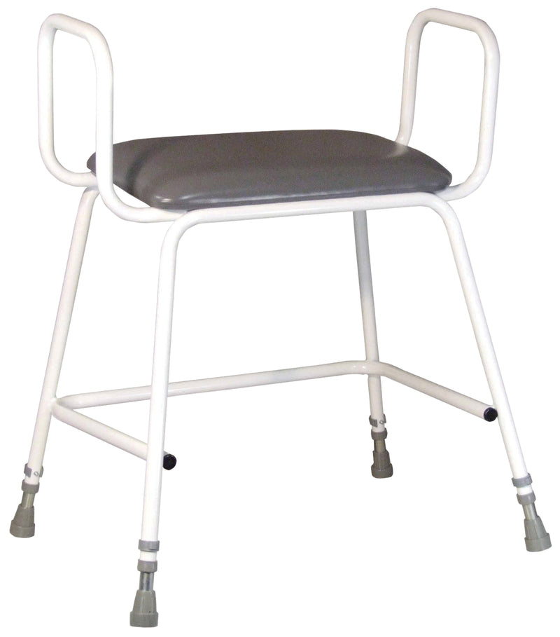 Torbay Heavy Duty Perching Stool with Arms