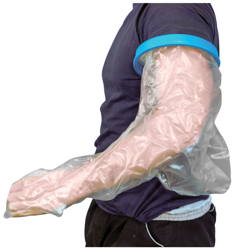 Waterproof Cast and Bandage Protector for use whilst Showering/Bathing (Adult-Long Arm)