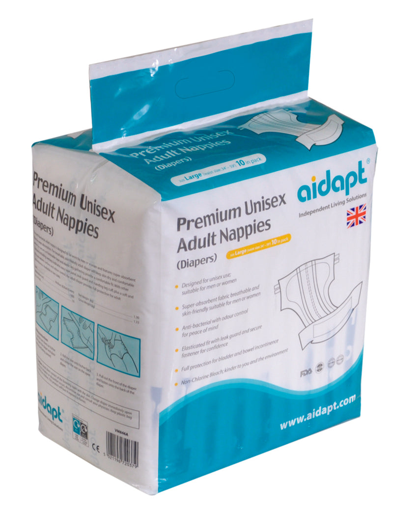 Premium Unisex Adult Nappies (Large)