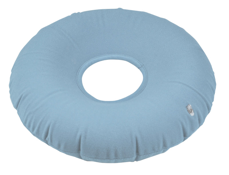 Inflatable Pressure Relief Ring Cushion Blue / Grey