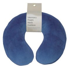 Memory Foam Neck Cushion Blue