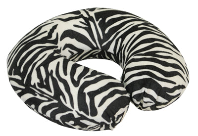 Memory Foam Neck Cushion Black / White Zebra