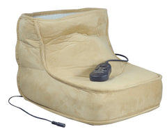 Electric Dual Speed Soft Massaging Beige Foot Boot with Heat