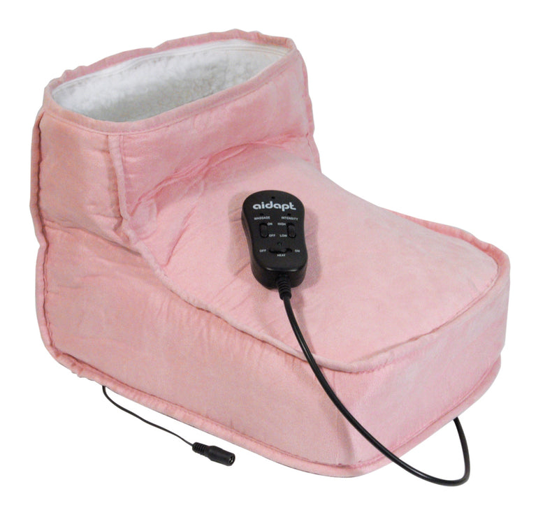 Electric Dual Speed Soft Massaging Pink Foot Boot with Heat