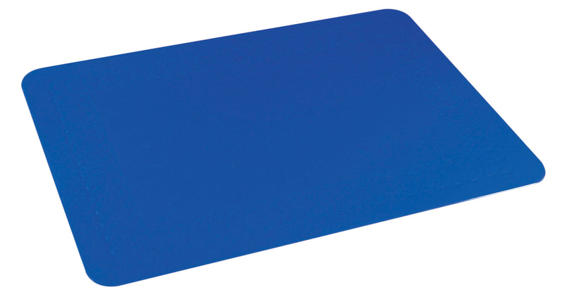 Tenura Silicone Rubber Blue Anti Slip Rectangular Mat 35.5x25.5 cm