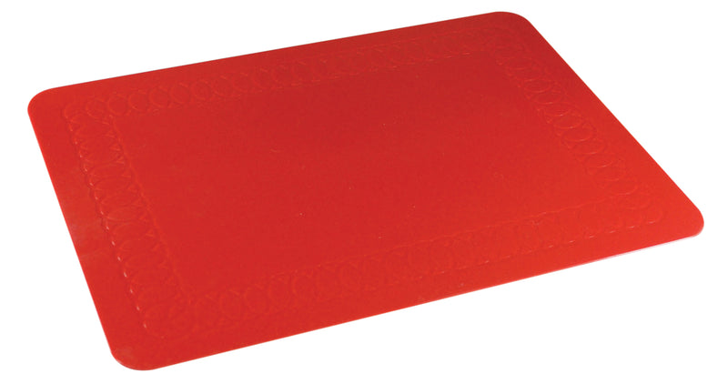 Tenura Silicone Rubber Red Anti Slip Rectangular Mat 35.5x25.5 cm