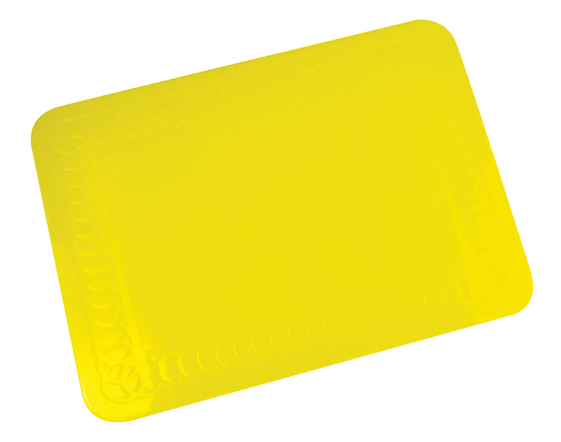 Tenura Silicone Rubber Yellow Anti Slip Rectangular Mat 25.5x18.5 cm
