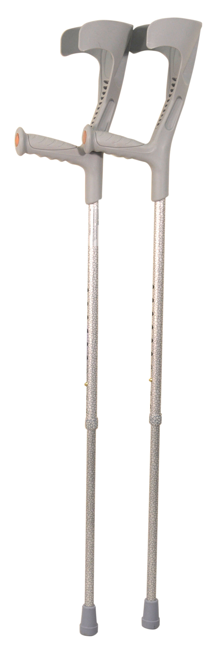 Deluxe Patterned Forearm Crutches (Pair) Grey Multi-Pattern
