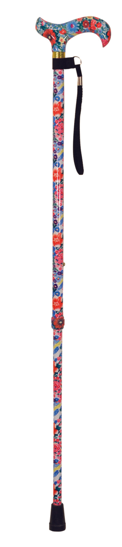 Deluxe Patterned Walking Cane Floral