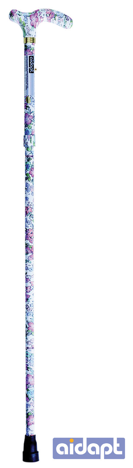 Deluxe Folding Walking Cane Floral