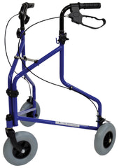 Three Wheeled Steel Walker -Blue without Bag