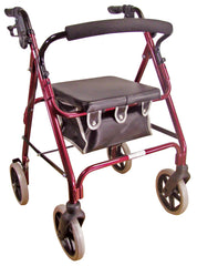 Lightweight 4 Wheeled Rollator Red