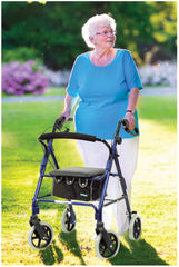 Lightweight 4 Wheeled Rollator Blue