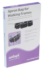 Apron Bag for Walking Frames - Black / White