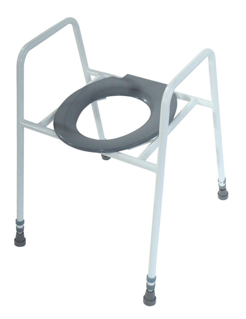 Solo Skandia Raised Toilet Seat and Frame with Clip on Seat