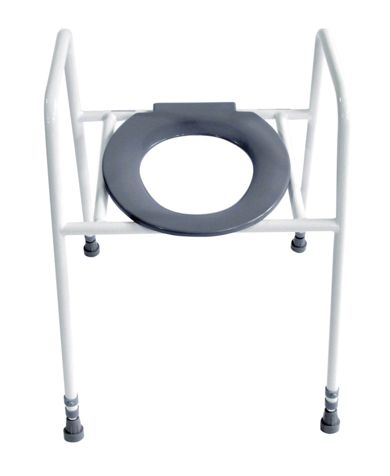 Solo Skandia Combined Heavy Duty Raised Toilet Seat - Fixed Floor