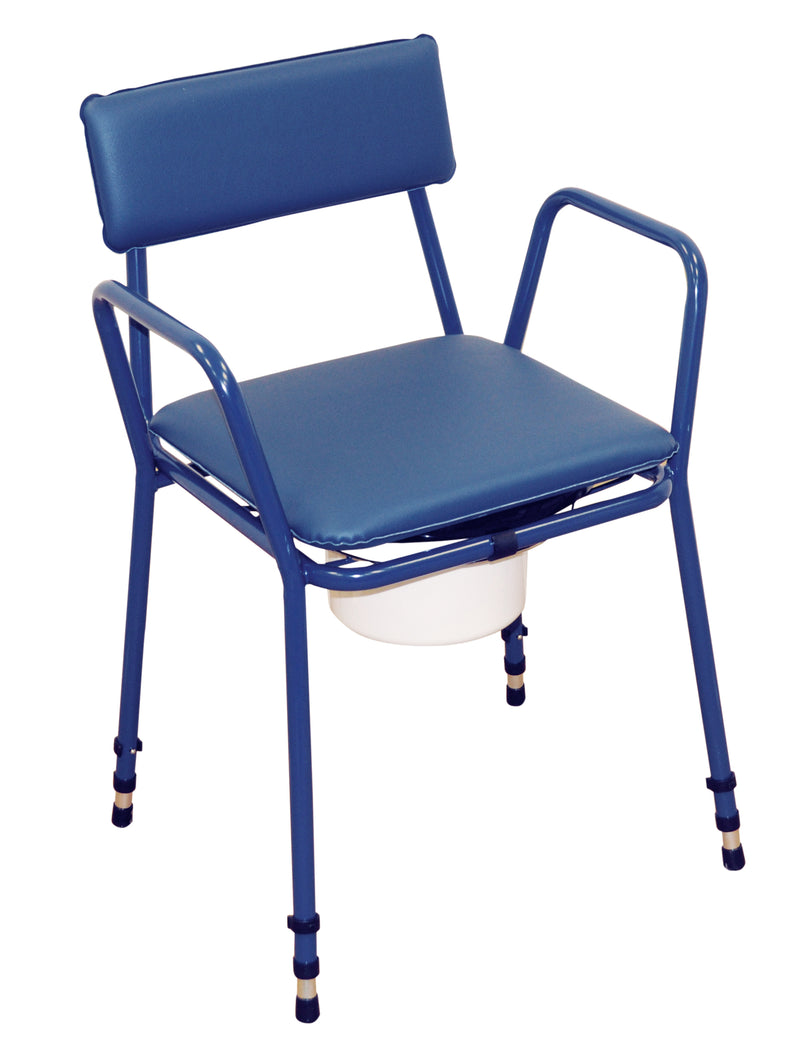 Essex Height Adjustable Commode Chair Two-Tone Blue