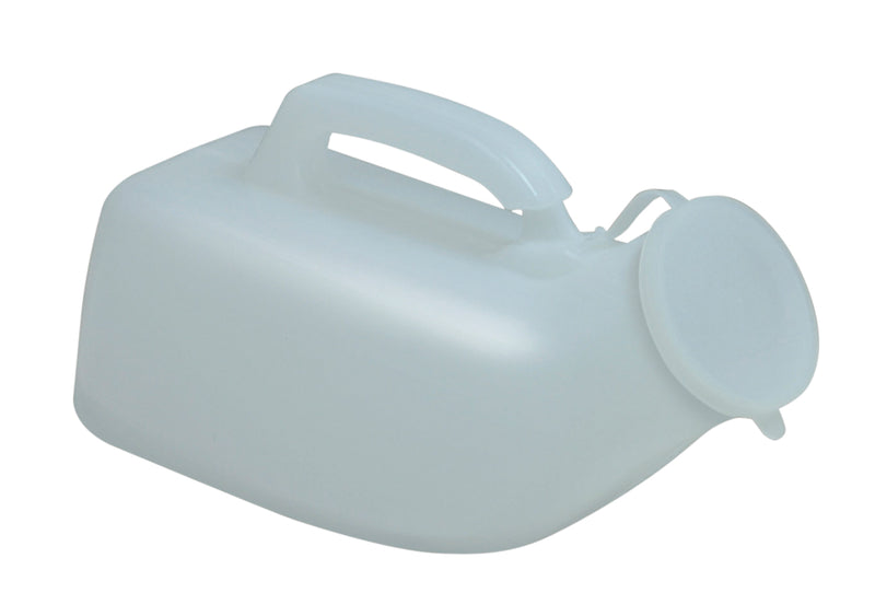 Male Urinal White With Anti Spill Lid