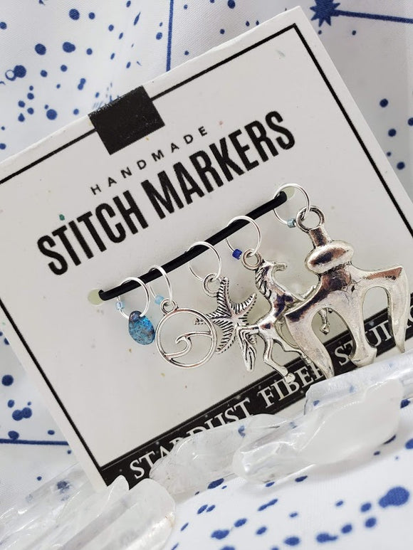 Tides of Poseidon - Stitch Marker Set