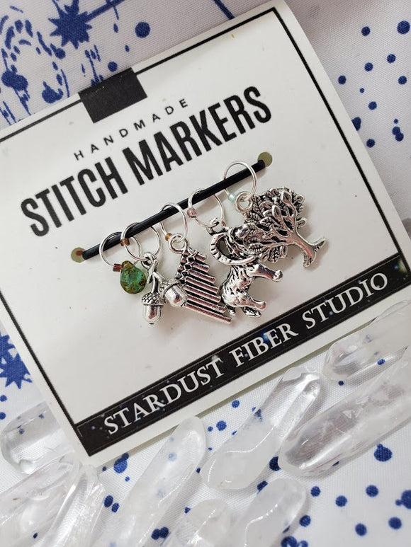 Pan's Melody - Stitch Marker Set