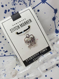 Stitch Marker - Doves on Heart