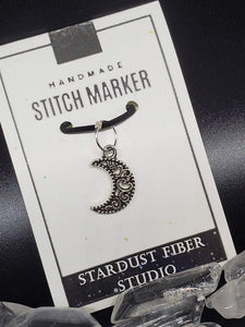 Stitch Marker - Filigree Moon