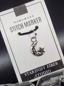 Stitch Marker - Moon with Stars